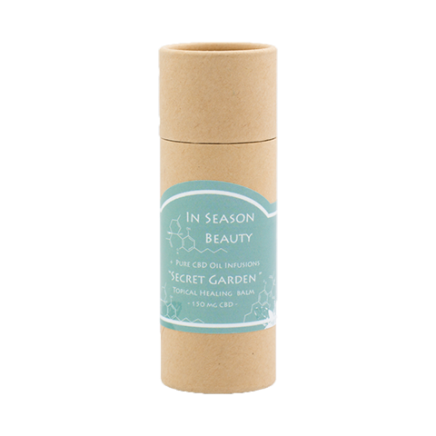 Secret Garden: A refreshing blend of bamboo & mint vegan calming balm that will assist to target muscle pain, stiffness and arthritic pain with 150 mg full spectrum hemp extract containing CBD.